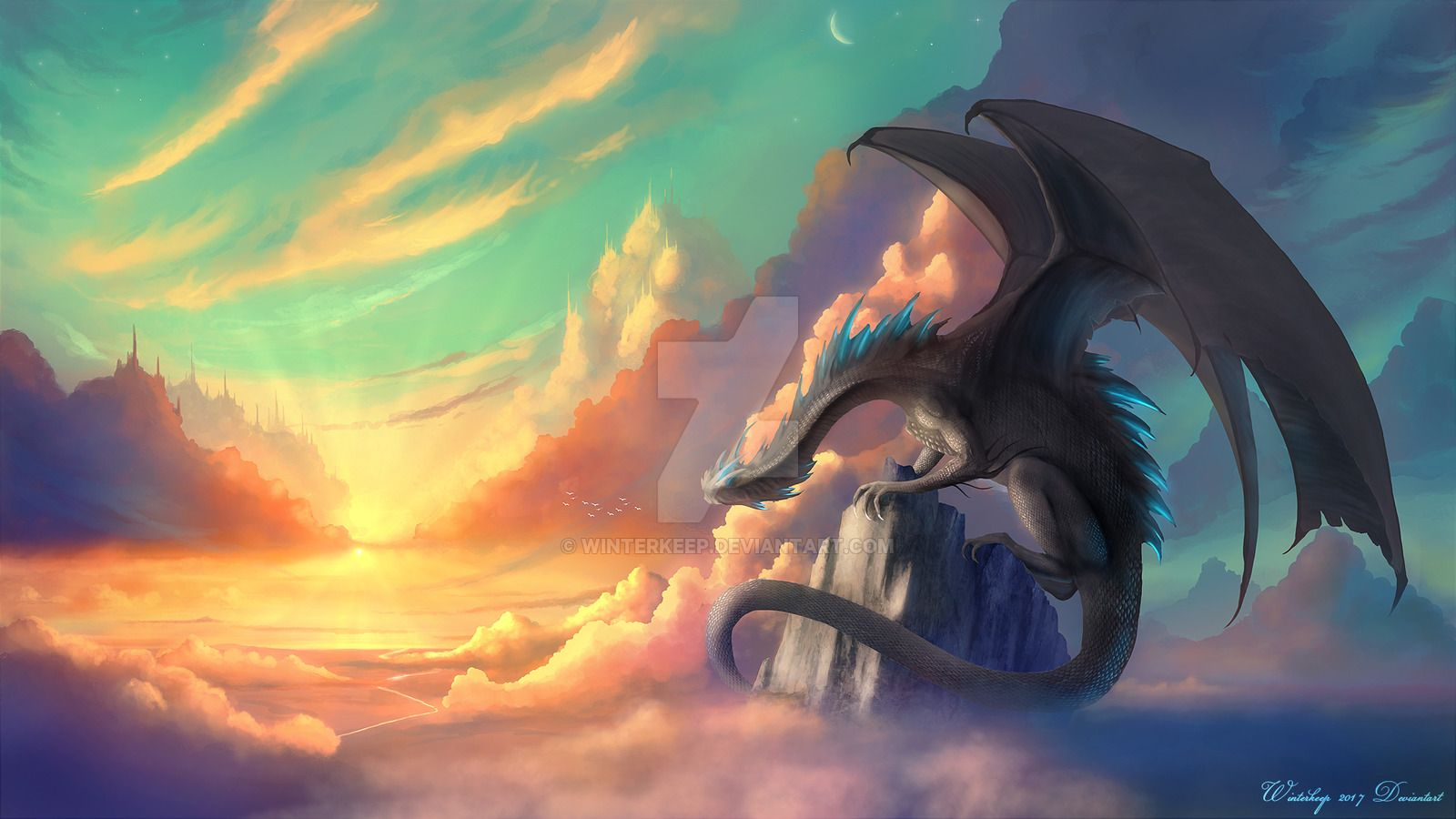 Sky Watcher Just Because I Love Dragons And Warm Light Img00deviantart