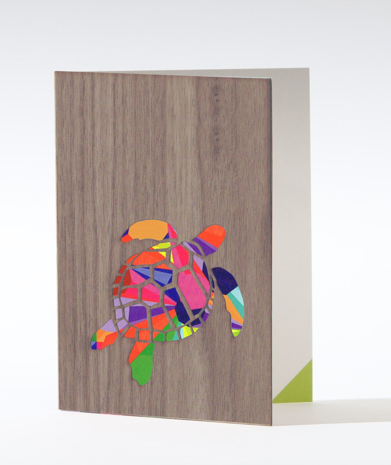 Blank Greeting Card Any Occasion Card Turtle Art Card Design