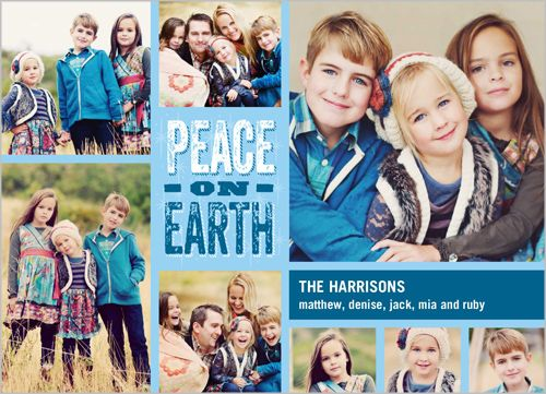 earth and peace  available at shutterfly my holiday card archive