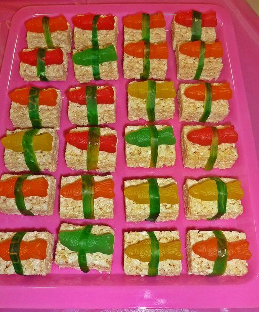 fun candy sushi - rice krispys & swedish fish or chocolate dipped pretzel goldfish? #candysushi fun candy sushi - rice krispys & swedish fish or chocolate dipped pretzel goldfish? #candysushi fun candy sushi - rice krispys & swedish fish or chocolate dipped pretzel goldfish? #candysushi fun candy sushi - rice krispys & swedish fish or chocolate dipped pretzel goldfish? #candysushi fun candy sushi - rice krispys & swedish fish or chocolate dipped pretzel goldfish? #candysushi fun candy sushi - ri #candysushi