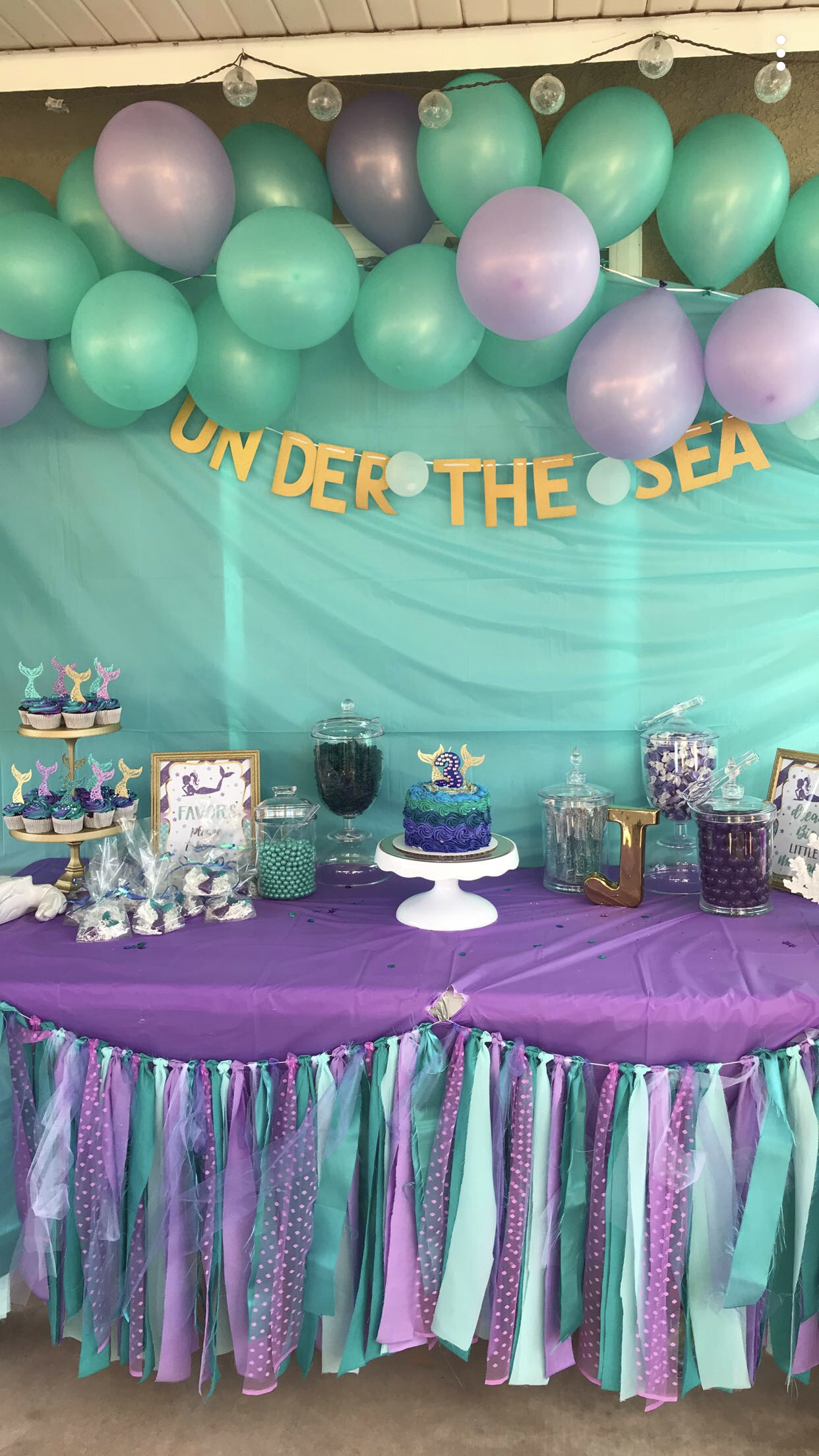 Under The Sea Mermaid Birthday Sweets Table