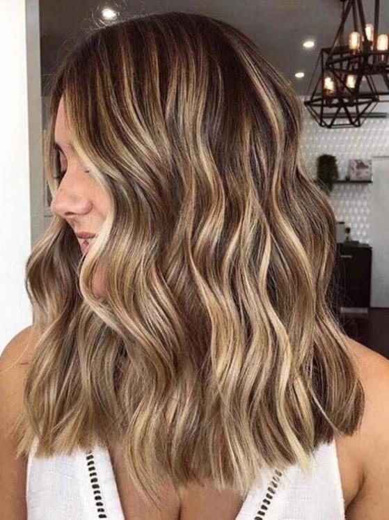 reflekser i brunt hår