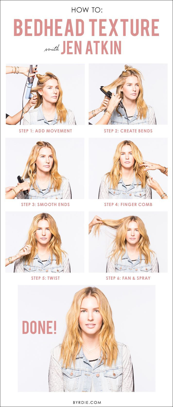 Jent Atkin Shows Us How To Get Perfectly Tousled Bedhead Hair Bedhead Hair Hair Styles Hair Tutorial