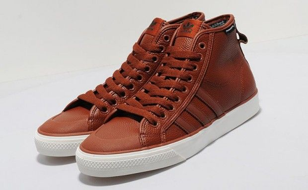 "ADIDAS ORIGINALS NIZZA HI ""BASKETBALL LEATHER"" 