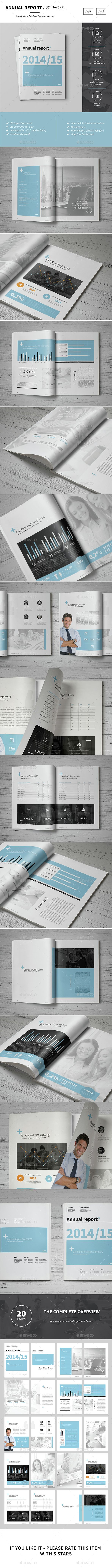 Annual Report Template InDesign INDD #design Download: http ...