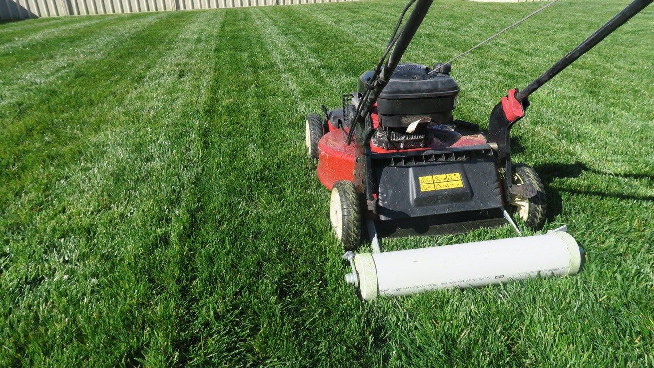 How does lawn striping work lawn striping lawn push mower