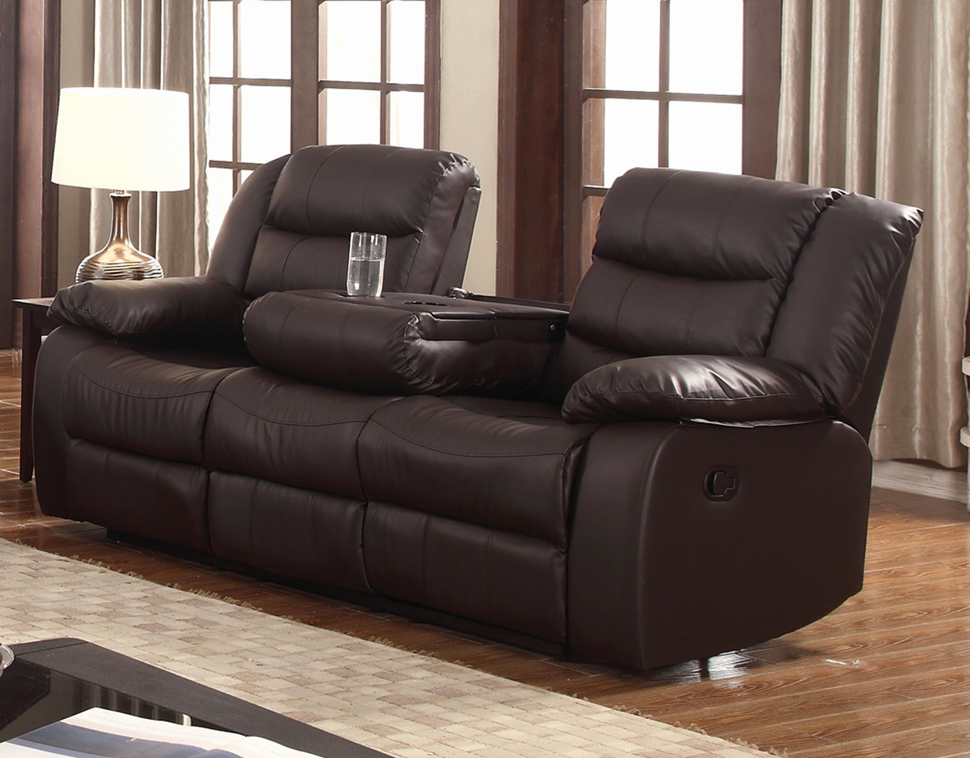 Beautiful Modern Leather Recliner Sofa Pictures Modern Leather Recliner Sofa  Beautiful Layla Dark Brown Faux Leather