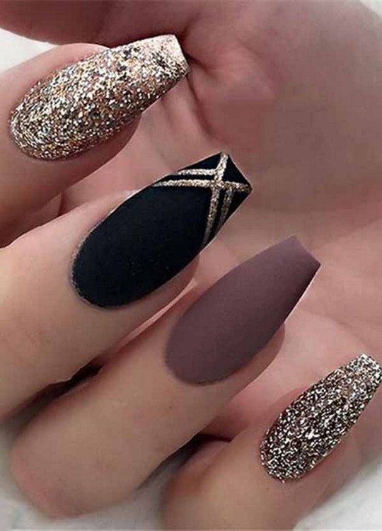 155 Most Impressive Ombre Black Long Acrylic Coffin Nails Create Your Best Impression Today 22 Fall Acrylic Nails Acrylic Nail Designs Trendy Nails