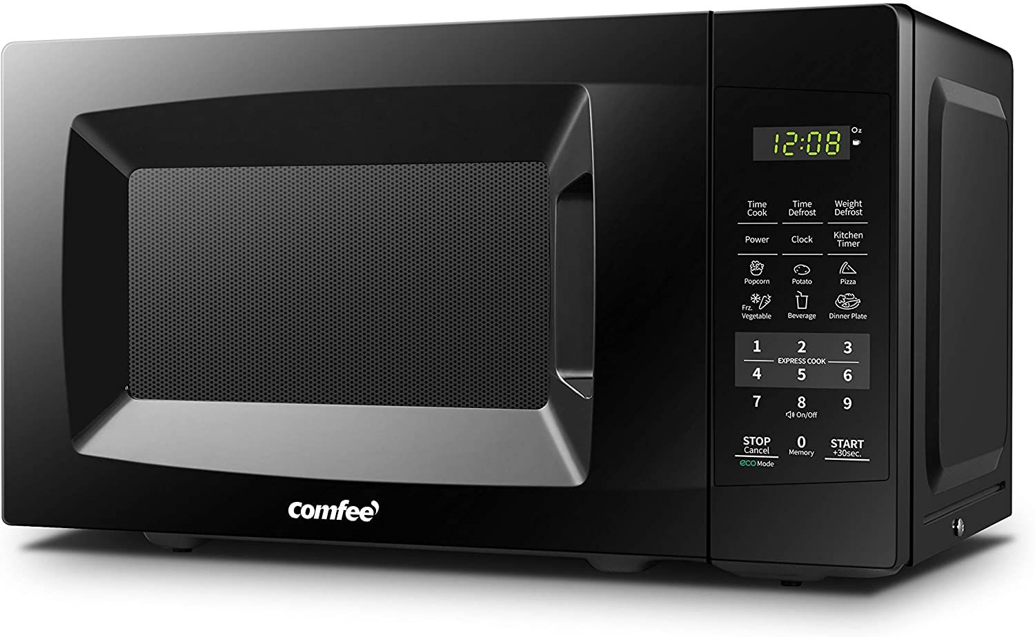 Comfee Em720cpl Pmb Countertop Microwave Oven With Sound On Off Eco Mode And Easy One Touch In 2020 Countertop Microwave Oven Countertop Microwave Compact Microwave