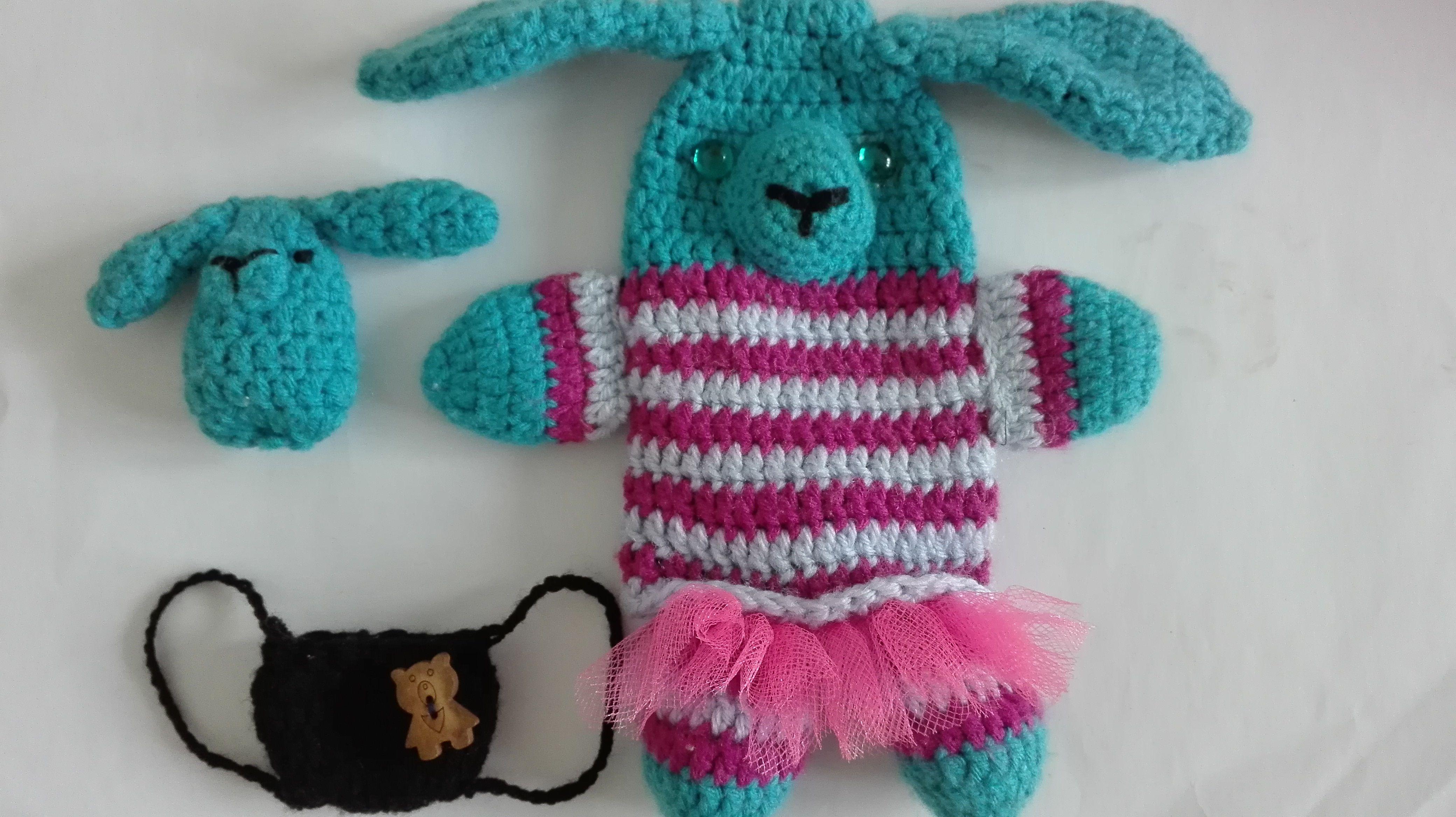 Mamička zajačička, bábka na ruku