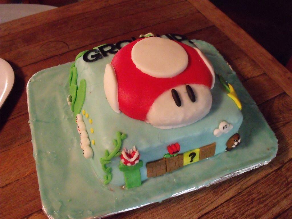 Grow Up Mario Birthday Cake Video Game Cake Game Cakes