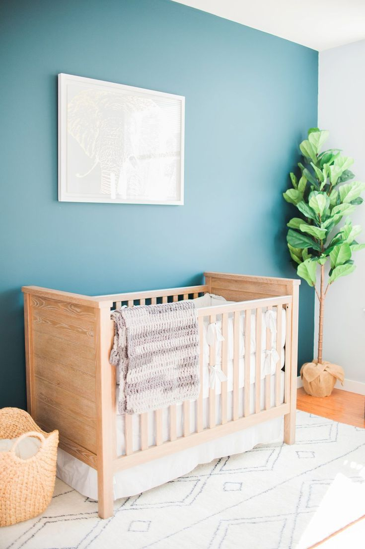 A Cozy and Serene Nursery Almost as Cute as the Baby Boy Behind It images