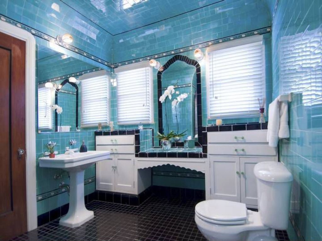 Awesome bathroom in 1929 home. | powder room/vanity | Pinterest ...