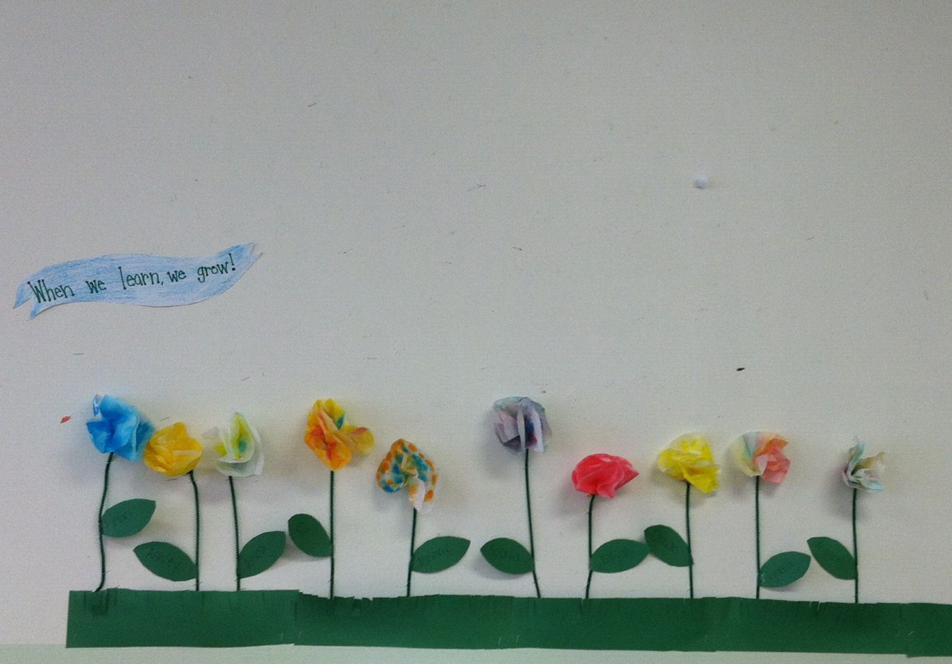Spring flowers -- coffee filter flowers