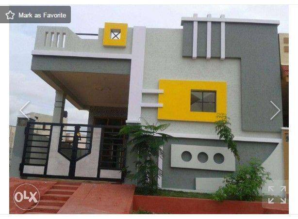 Selected aa pinterest photo wall house and indian for Front view of duplex house in india