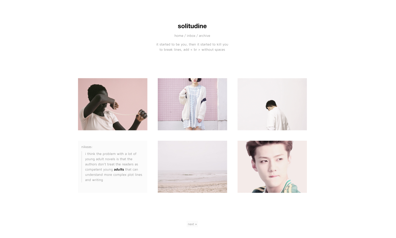 "solitudine : preview / code ""i'm pretty excited about this theme! on"