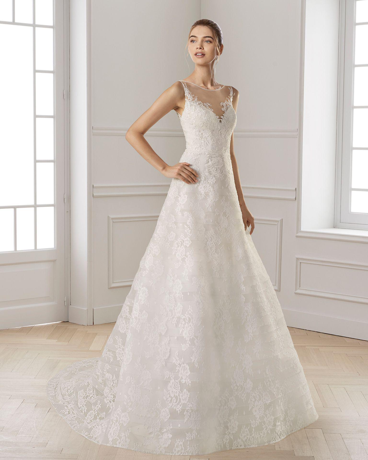 Vestido de novia aire 2019