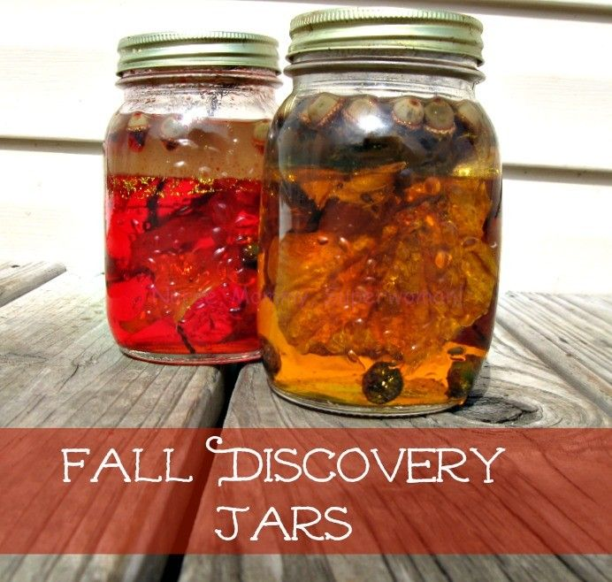 Fall Discovery Jars for Sensory Play