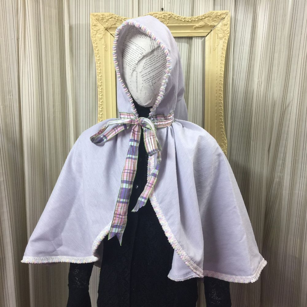 Cape hood Victorian sweet lolita fantasy cosplay princess lavender pastel 5067 #Geechlark
