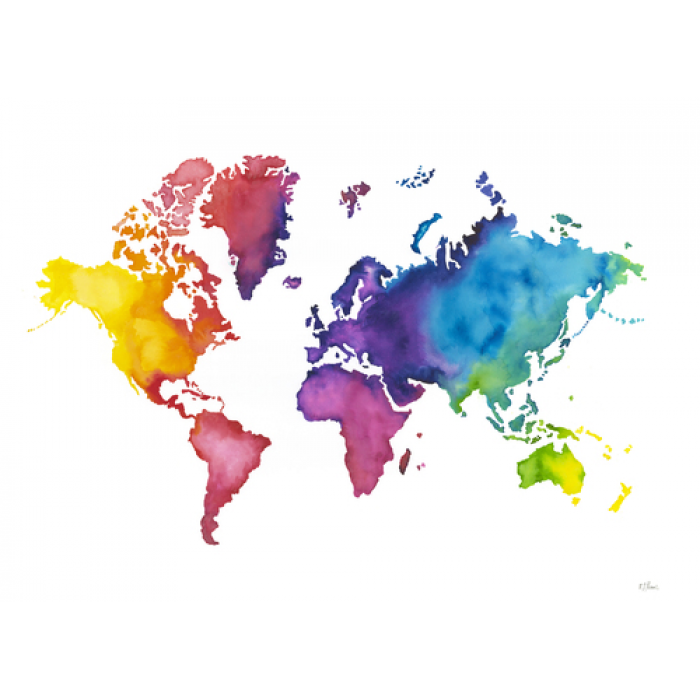 Wall Art Prints Colours Of The World Map World Map Wallpaper Map Wall Art World Map Wall Art