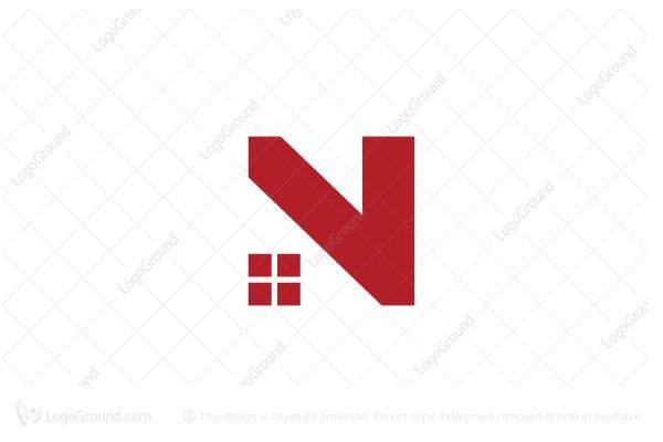 Letter N Logo Realty Logo Real Estate Logo Design Realty Logo Graphic Design Logo