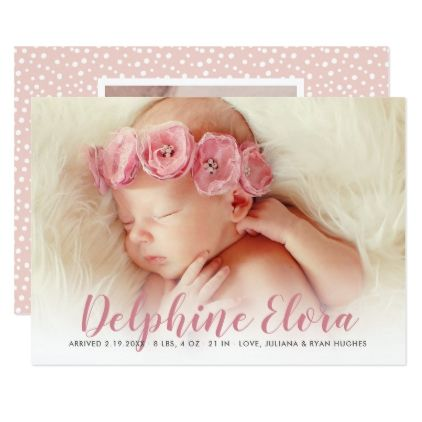 baby photo birth announcement statement name customize create your own personalize diy