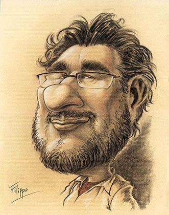 karikaturist schnellzeichner Filippo, karikatur farbe
