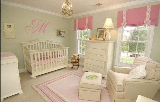 Classic Pink And Green Nursery Design For A Special