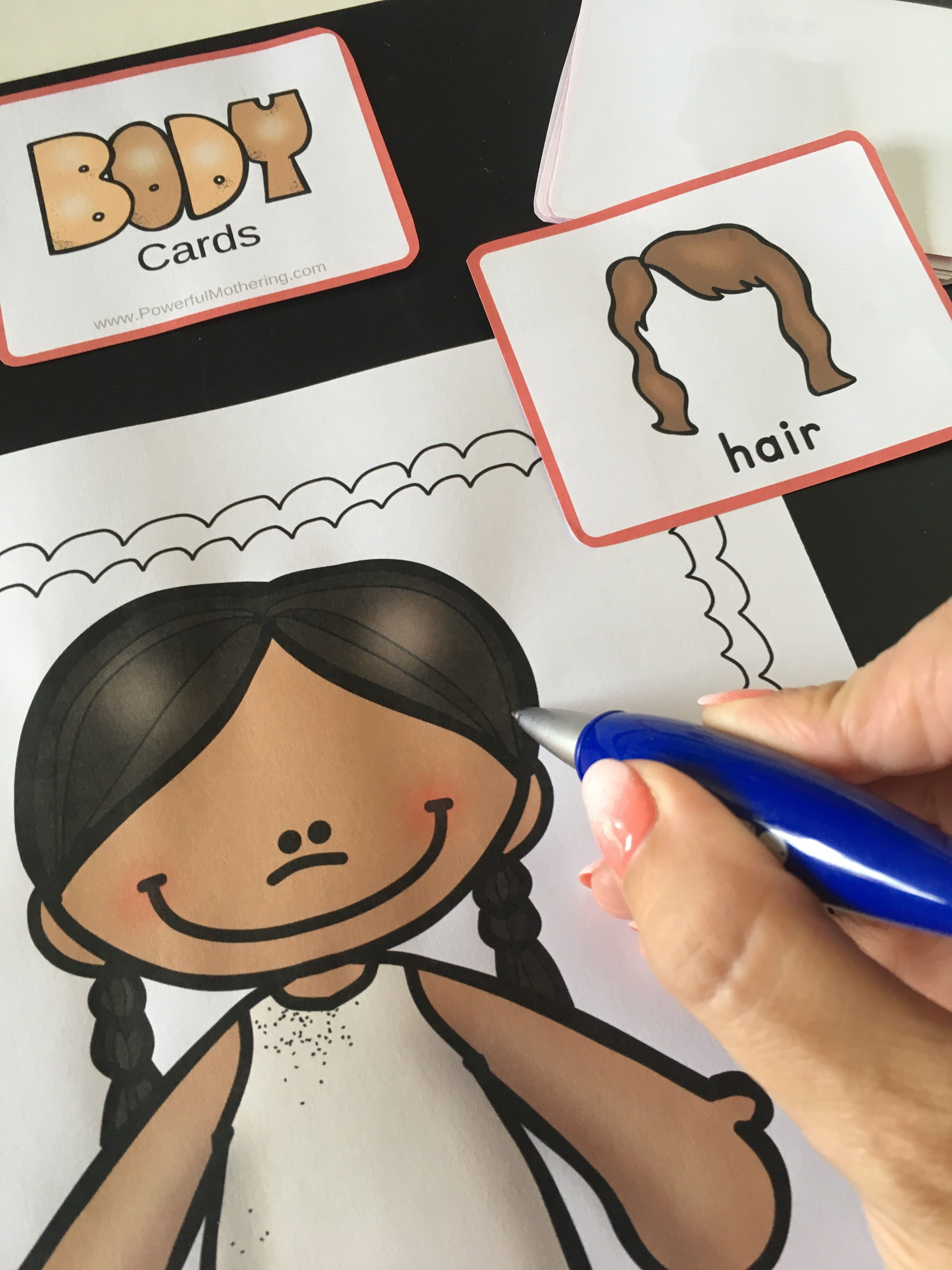 A Fun Game To Help Teach Children About The Body In