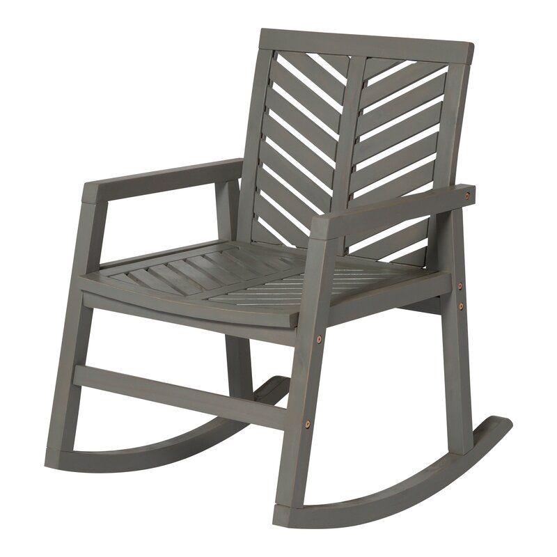 Breakwater bay linda outdoor chevron rocking chair