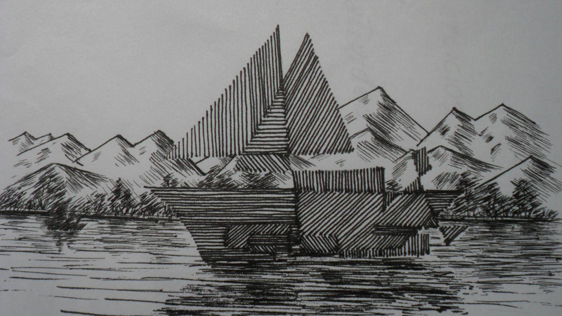 Como Iniciarse En Dibujo Leccion Nº 1 Curso Practico De Dibujo Primer Dibujos Con Lineas Rectas Dibujo Con Lineas Dibujos Con Rayas