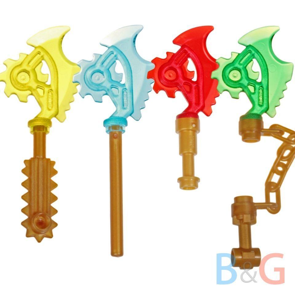 NEW Lego Ninjago SILVER BLADE SCYTHE Minifig Ninja Kai Zane Jay Cole Gray Weapon