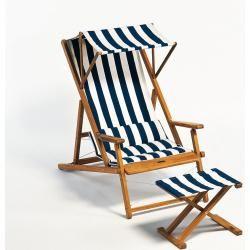 Photo of Weishäupl Cabin deck chair marine / natural WeishäuplWeishäupl