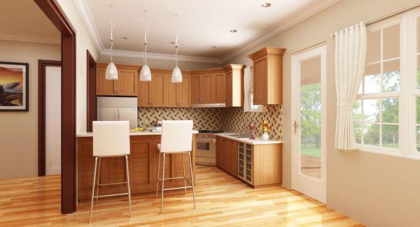 Small House Kitchen Design plan cottageville house plan - 8787 - the house designers, llc