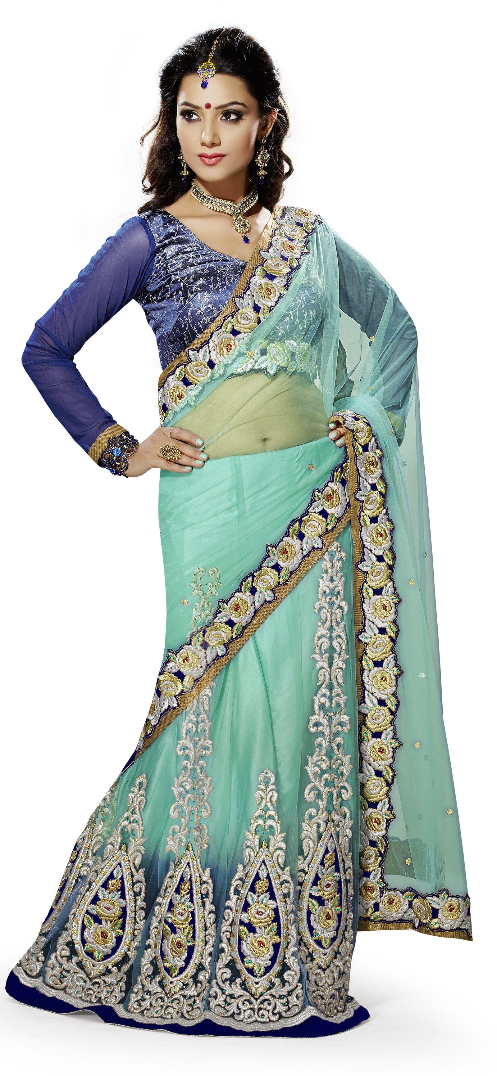 GLITTERING SAREE Saree designs, Lehenga style saree