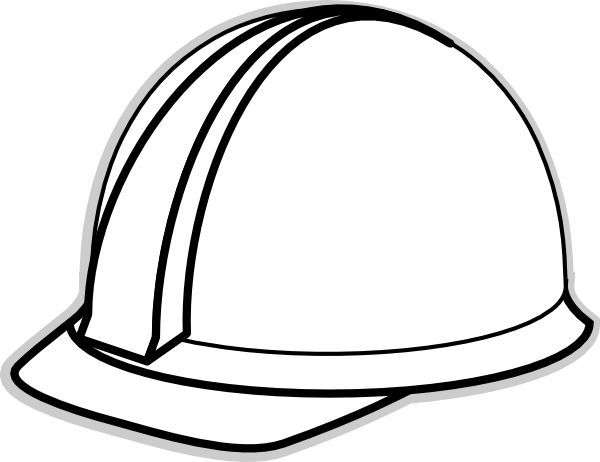 Hard Hat Template for Teacher White Hard Hat 2 clip art - vector - Party Hat Template