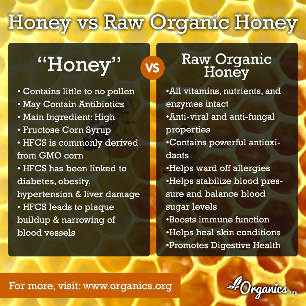 "differences between ""honey"" and raw organic honey (with"