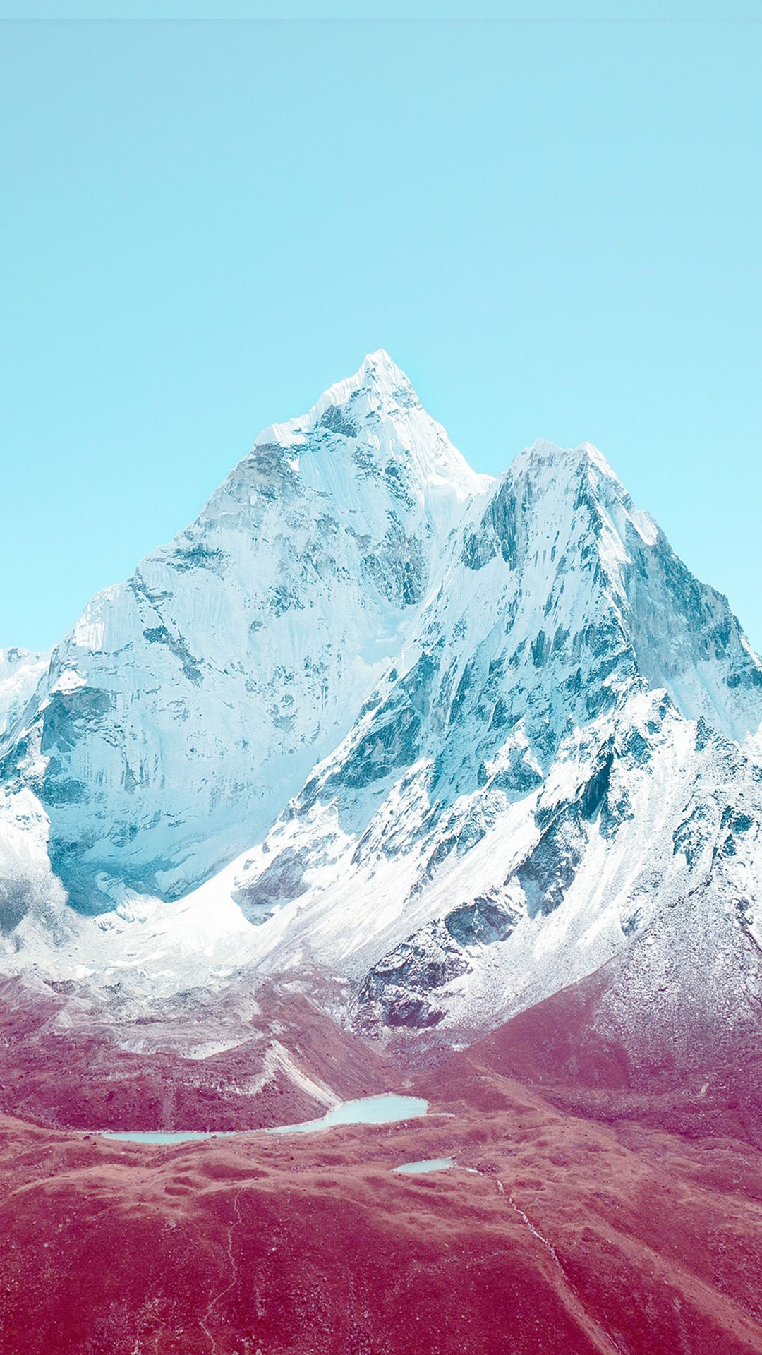 apple ios7 stock lock screen mountains android wallpaper 1080a—1920