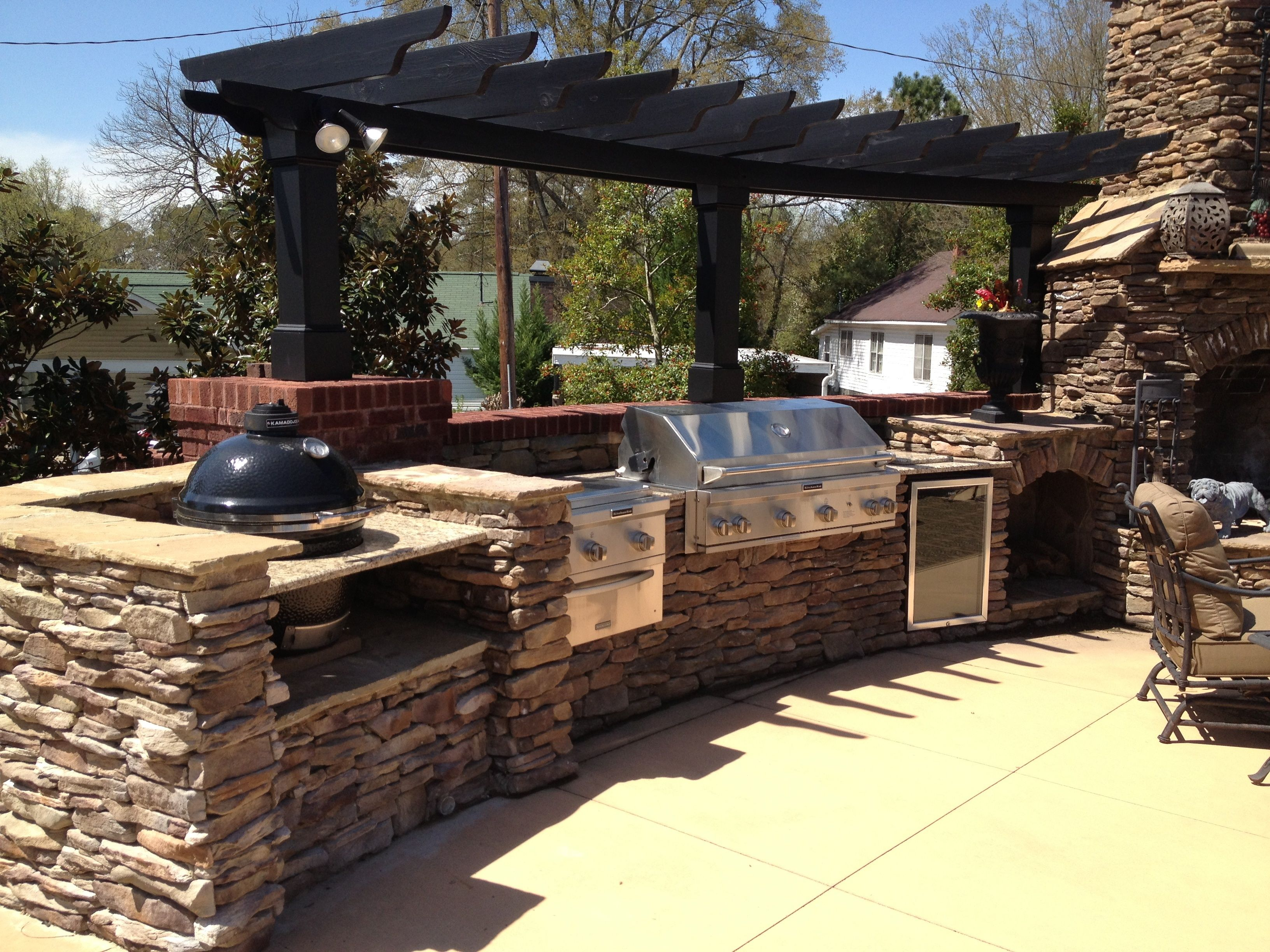 outdoor bbq kitchen outdoor remodel outdoor kitchen countertops backyard fireplace on outdoor kitchen bbq id=74508