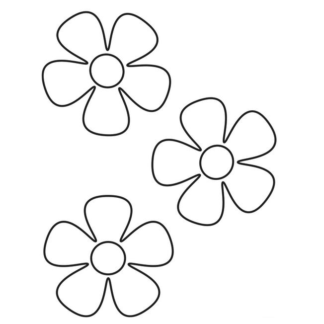 dibujos para colorear de flor de 5 petalos | PISTOLA DE SILICONA ...