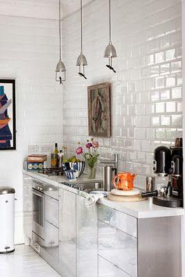 Cucina mattonelle bianche cerca con google cucina pinterest google cucina e piastrelle - Piastrelle bianche cucina ...
