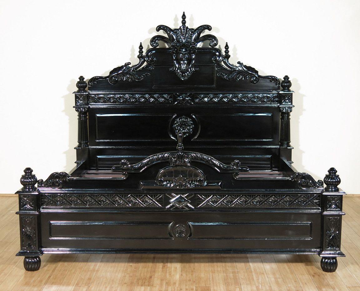 Black Gothic Gargoyle Bed E King Black Gothic Gothic Decor Bedroom Gothic Gargoyles