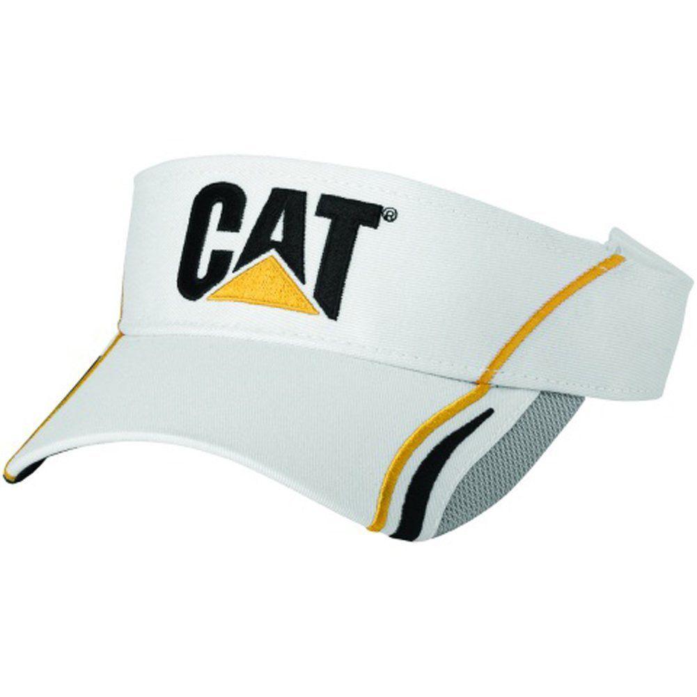 e0991bf32e6d8 CAT Hats - CAT Caps - Caterpillar CAT Gold Black Gray Golf Visor Cap ...