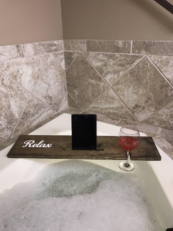 Bath Tray - Bath Caddy - Wood Bath Caddy - Bathtub Tray - Bathtub ...