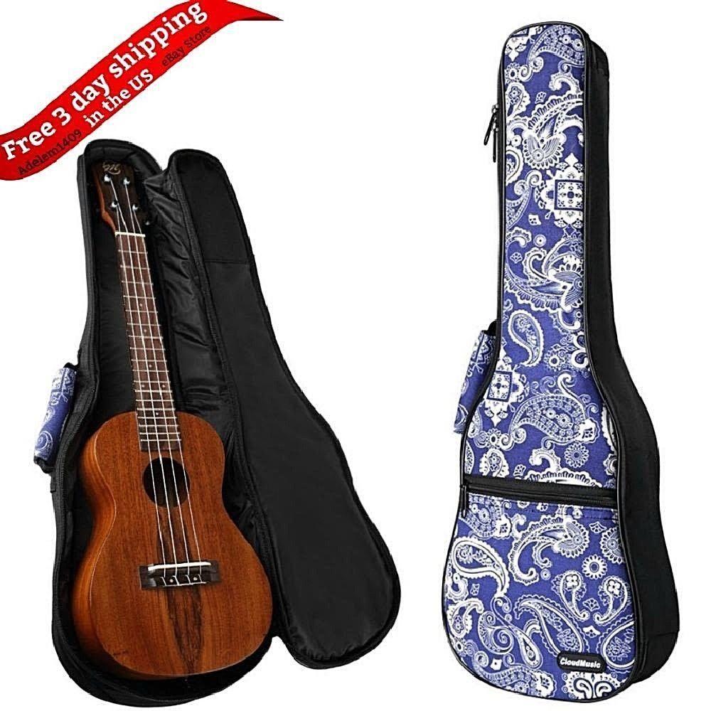 24 Inch Deluxe Ukulele Case Bag Concert Padded Bag Uke 4 Strings Portable New Cloudmusic Ukulele Ukulele Case Pad Bag