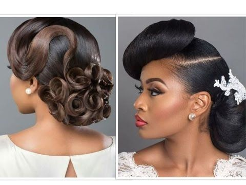 Bridal Hair With Weave Makeup For Black Beauties African Wedding Hairstyles Brides Maid Hair Black Hair Growth