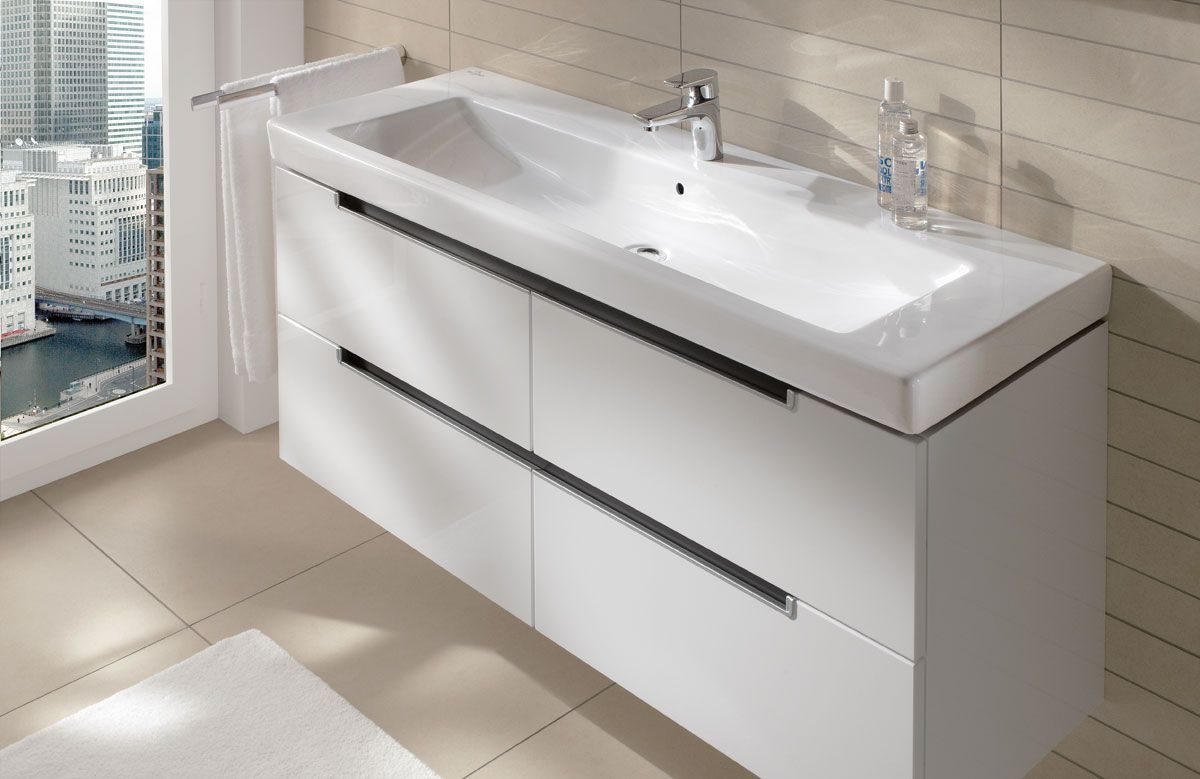 Villeroy & Boch bathroom furniture - Subway 2.0 Furniture Glossy White. (Click on ...