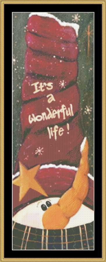 Its a Wonderful Life [JM-53] - $16.00 : Mystic Stitch Inc, The fine art of counted cross stitch patterns