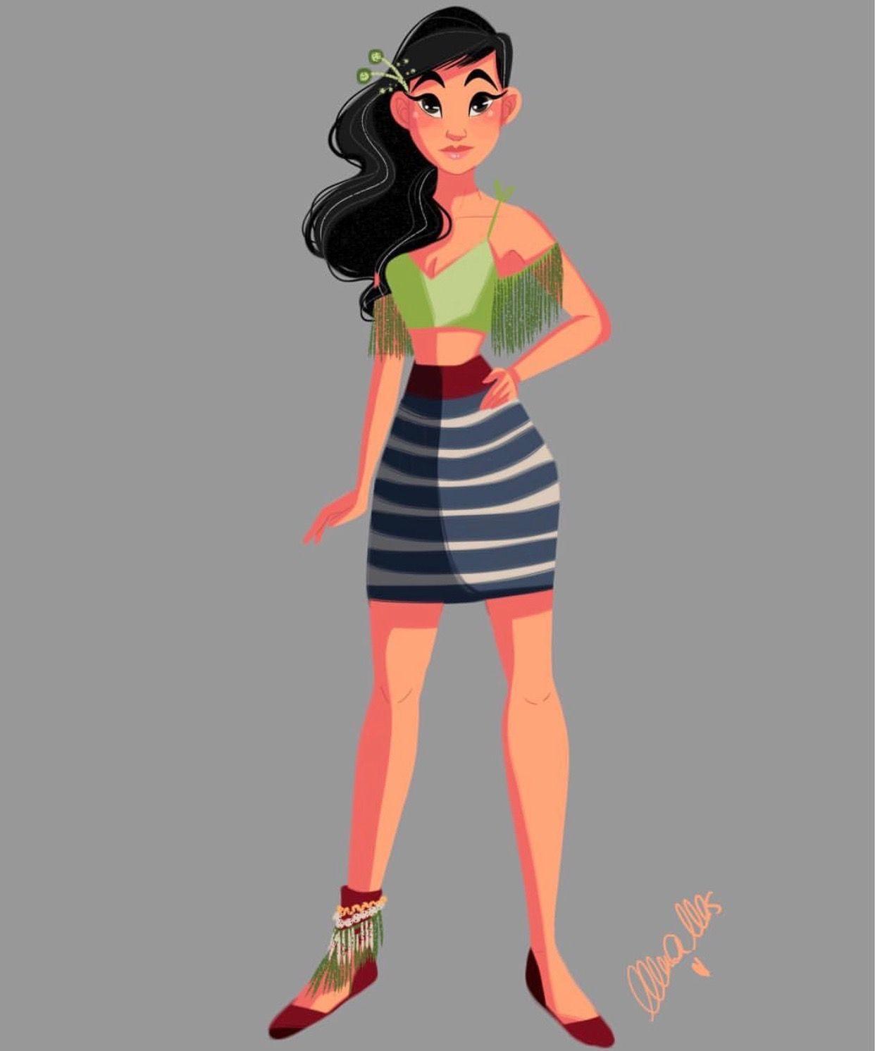 Nerea Mas Disney Modern Mulan Disney Princess Pregnant Disney Princess Fashion Disney Art