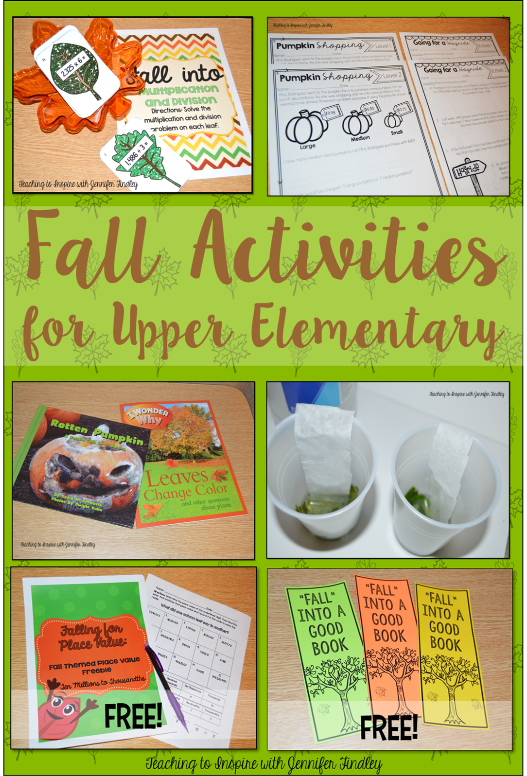 Elementary Classroom Ideas ~ Fall activities for upper elementary classrooms